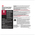 #8L label for general purpose cleaner 4/ST