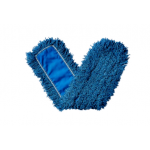 """48"""" Twisted Loop Synthetic Dust Mop, Blue"""