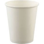 Solo Cups Uncoated Paper Cups, Hot Drink, 8oz, White, 1000/Carton