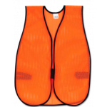 One Size Fits All Orange Poly  Mesh Material Vest